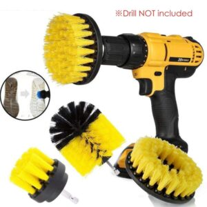 1 Set/3 PCS Electric Drill Brush Kit Plastic Round Cleaning Brush For Carpet Glass Car Tires Nylon Brushes Scrubber Drill