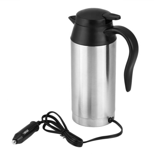 Stainless Steel Travel Kettle With a cigarette light power extension
