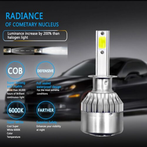 PANDUK C6 H1 H3 Led Headlight Bulbs H7 LED Car Lights H4 880 H11 HB3 9005 HB4 9006 H13 6000K 72W 12V 8000LM Auto Headlamps